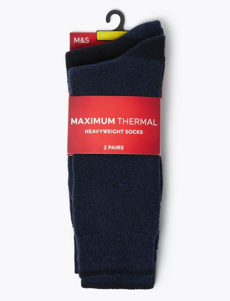 Erkek Mavi 2'li Maksimum Termal Çorap Seti