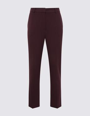 Kadın Mor Slim Fit Pantolon