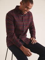 Erkek Kırmızı Ekose Flanel Gömlek