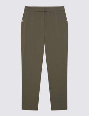 Kadın Yeşil 7/8 Evie Straight Pantolon