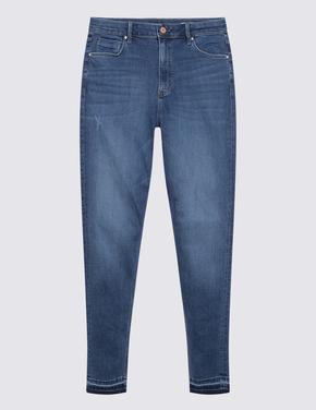 Kadın Mavi Super Soft Skinny Jean Pantolon