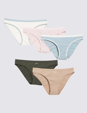 Kadın Multi Renk 5'li Bikini Külot Seti