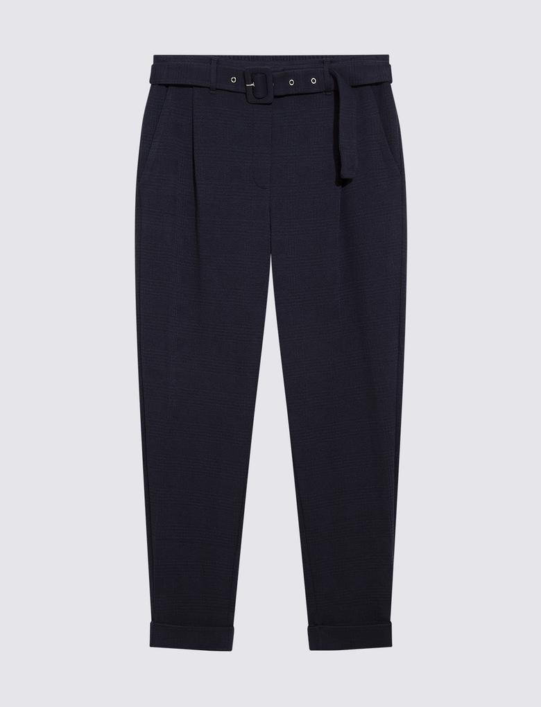 Kadın Lacivert Kemerli Pantolon