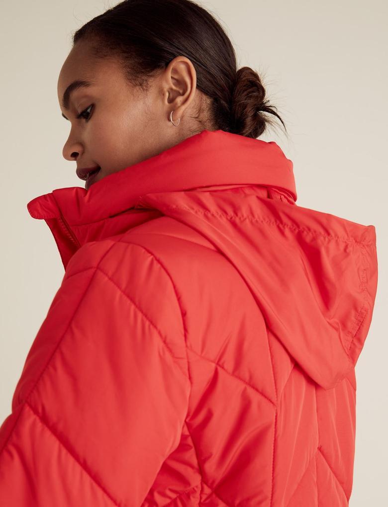 Kadın Kırmızı Thermowarmth™ Pufa Mont