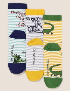Çocuk Multi Renk 3'lü Desenli Çorap Seti