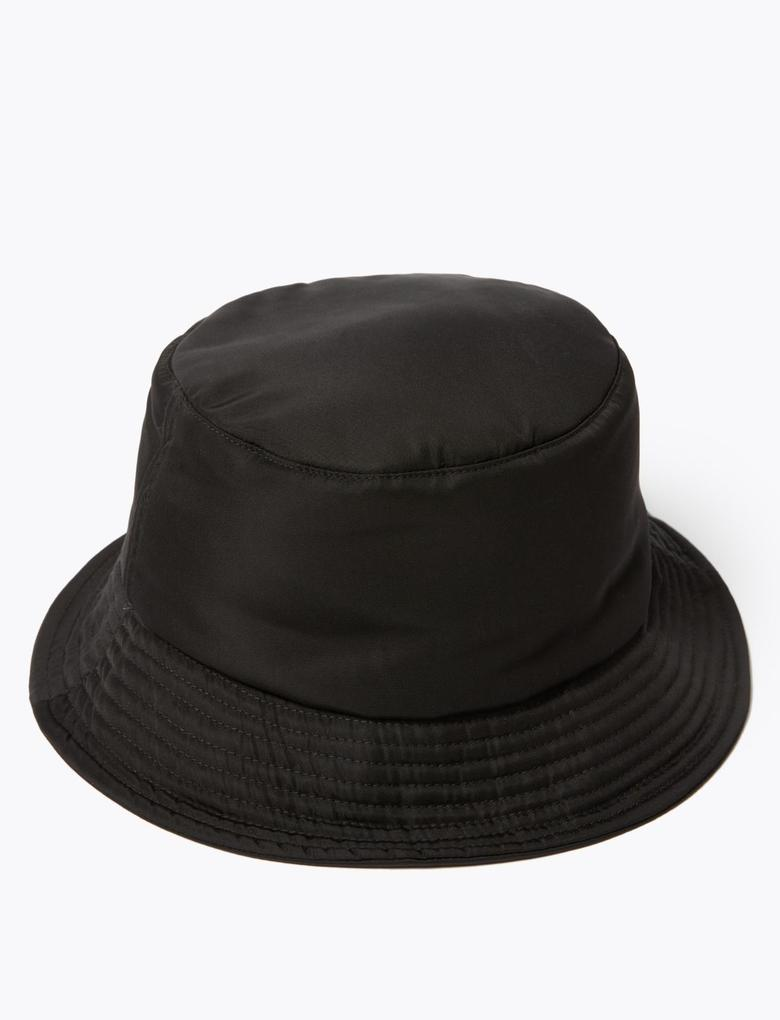 Kadın Siyah Bucket Şapka