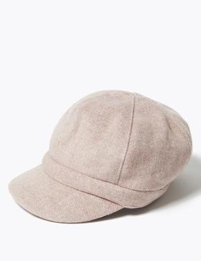 Kadın Pembe Dokulu Şapka