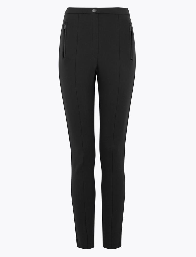 Kadın Siyah Jarse Skinny Pantolon