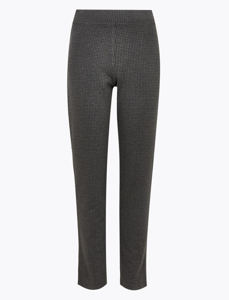 Kadın Gri Jarse Slim Fit Pantolon
