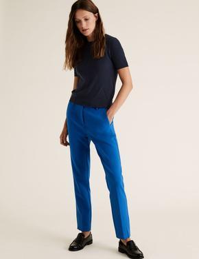 Kadın Mavi Mia Slim Ankle Grazer Pantolon