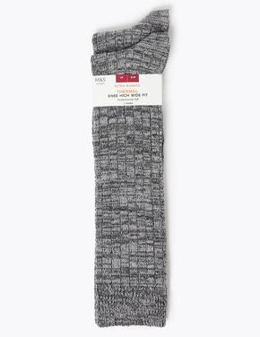 Kadın Gri 2'li Termal Diz Altı Çorap Seti