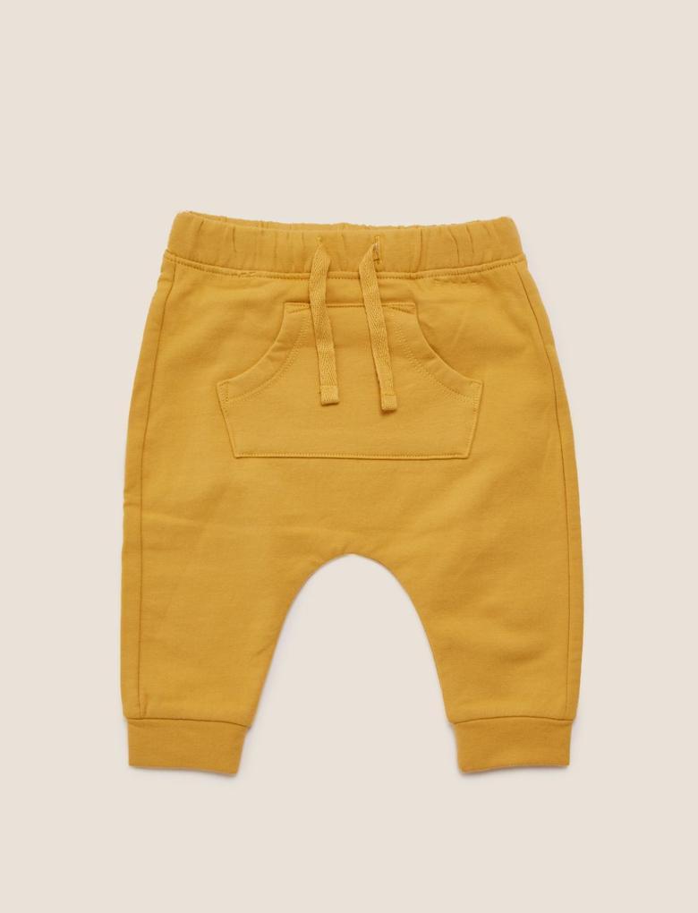 Bebek Sarı Desenli Üst ve Alt Takımı