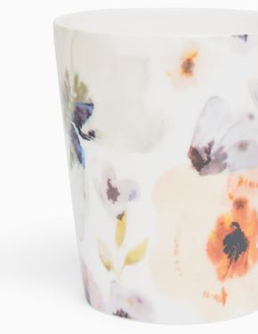 Ev Multi Renk Çiçek Baskılı Kupa