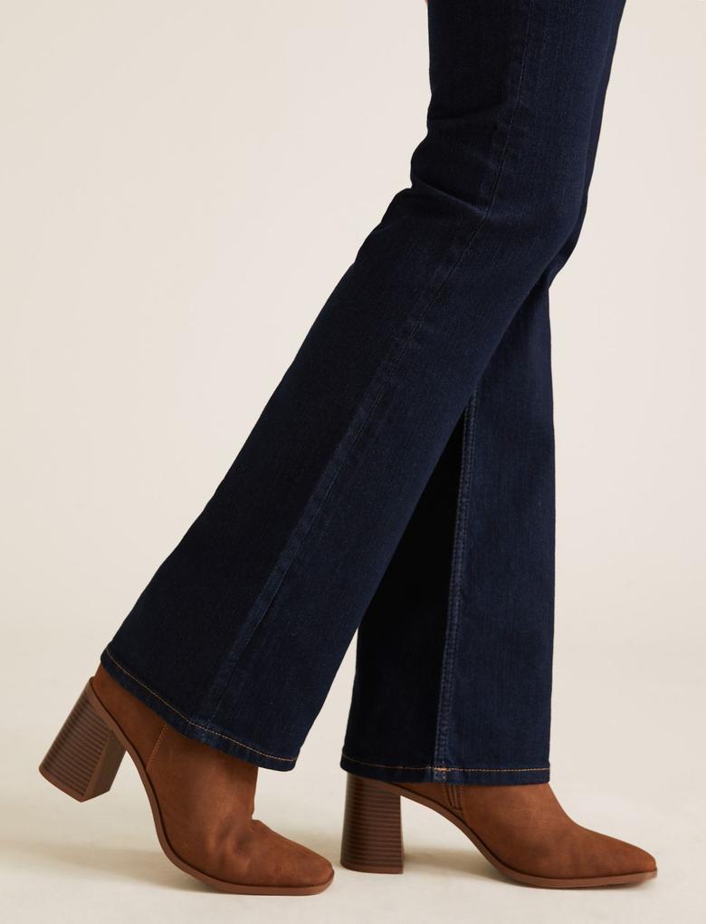 Kadın Koyu lacivert Bootcut Streç Jean Pantolon