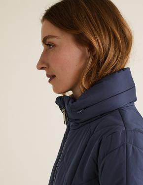Kadın Lacivert Thermowarmth™ Uzun Pufa Mont