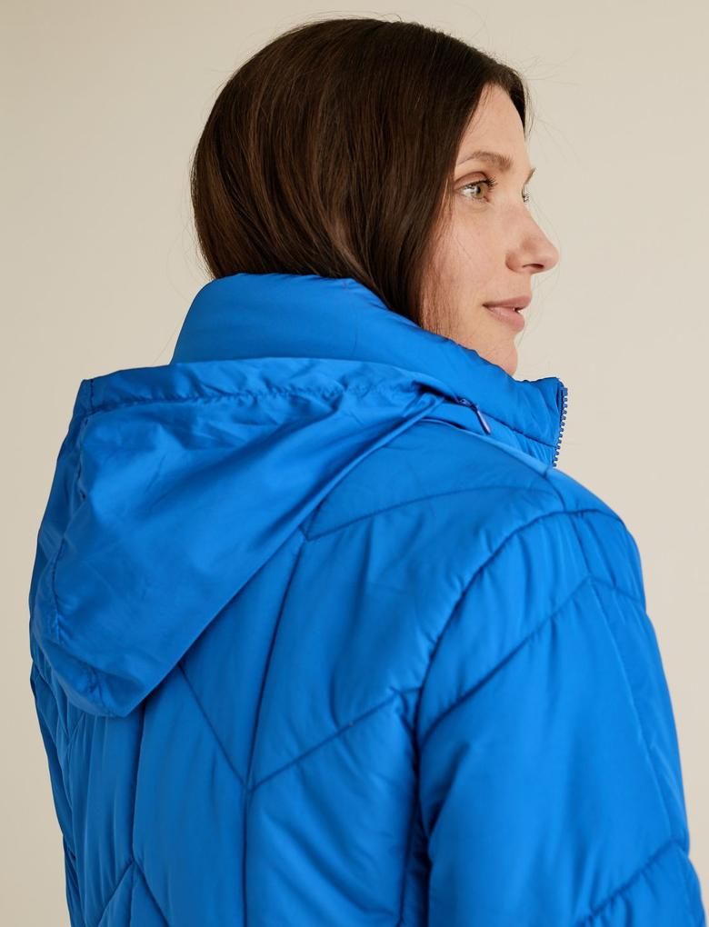 Kadın Mavi Thermowarmth™ Pufa Mont