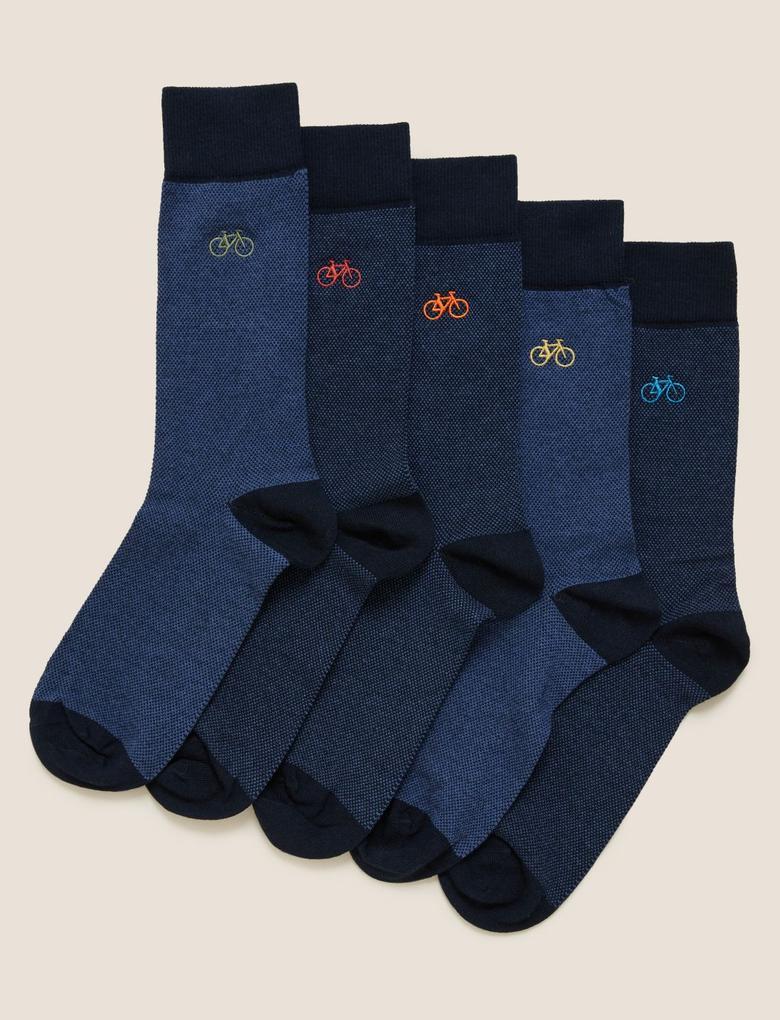 Erkek Lacivert 5'li Cool & Fresh™ Çorap Seti