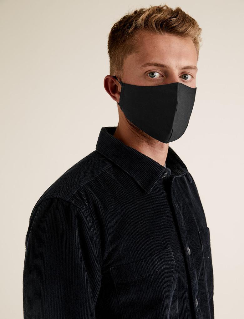 Ev Multi Renk 5'li Yıkanabilir Yetişkin Yüz Maskesi