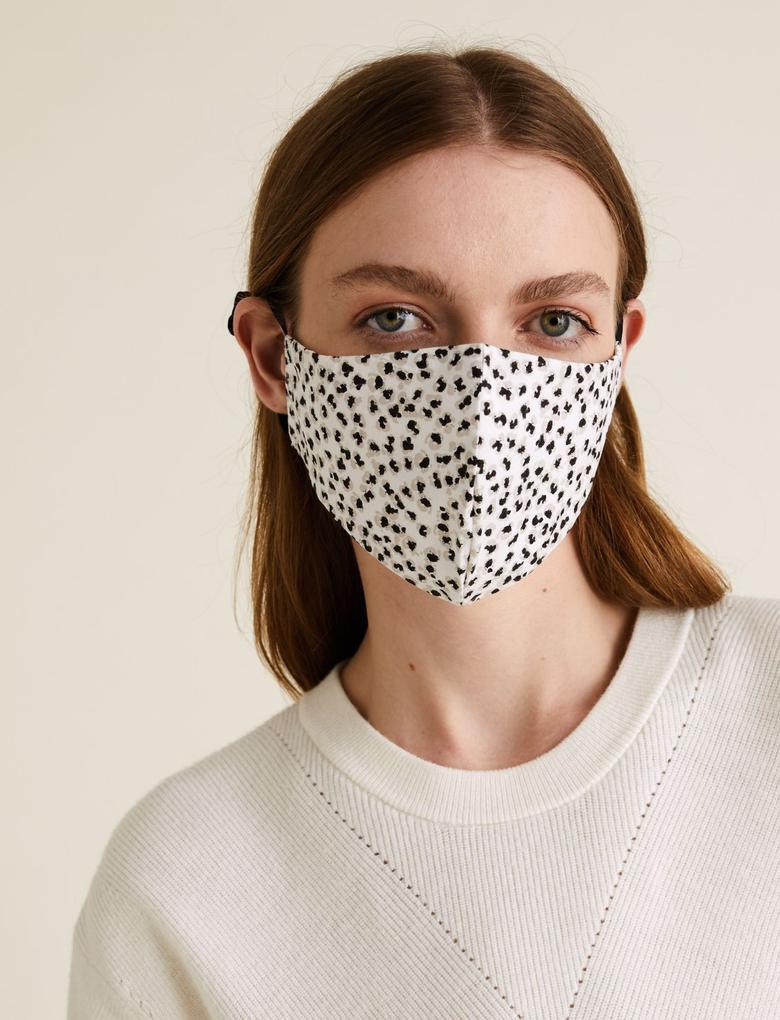Ev Siyah 5'li Yıkanabilir Yetişkin Yüz Maskesi