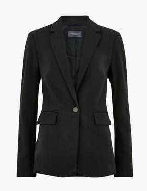 Kadın Siyah Tailored Fit Blazer Ceket