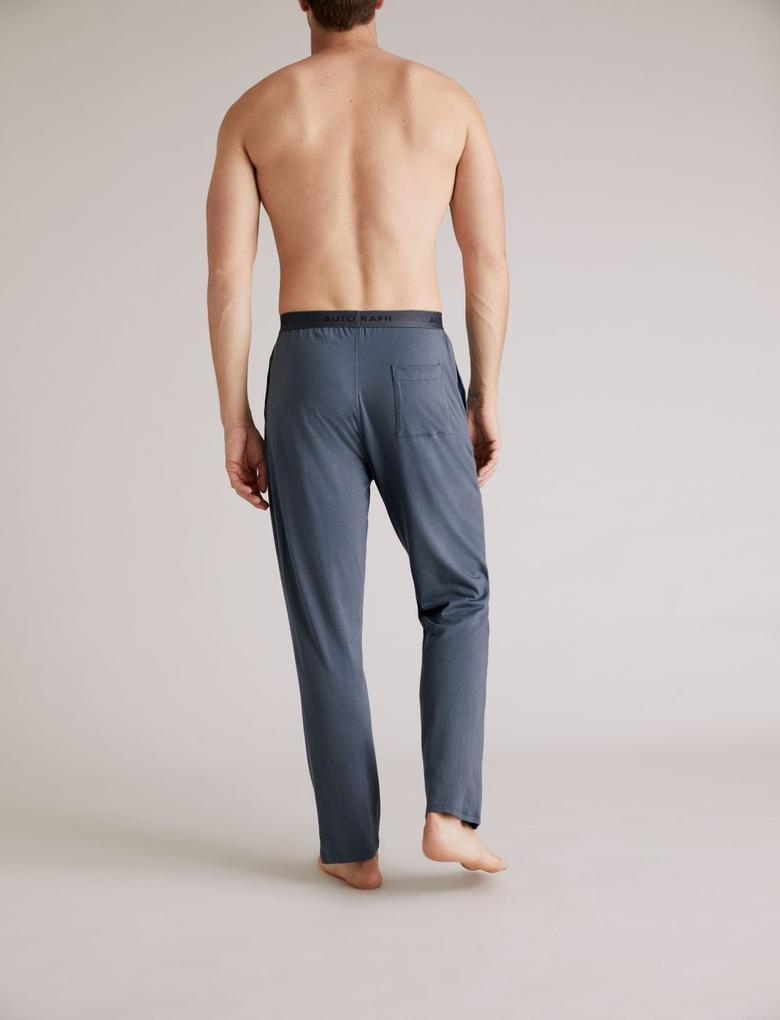 Erkek Mavi Premium Pamuklu SuperSoft Pijama Altı