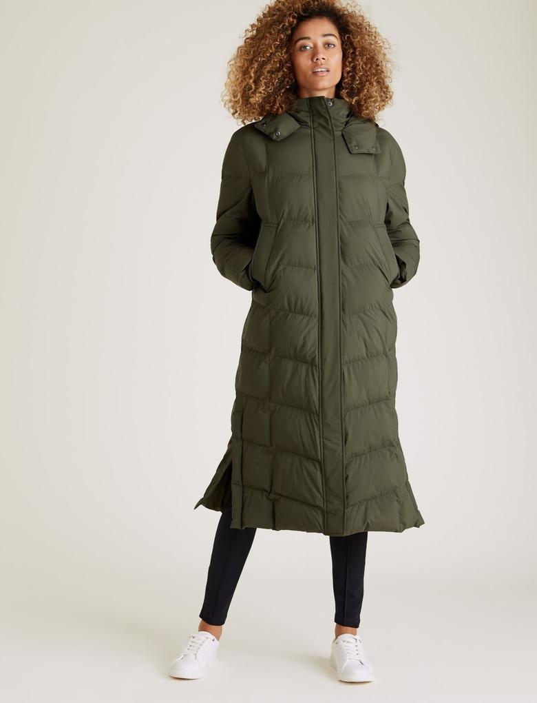 Kadın Yeşil Thermowarmth™ Uzun Pufa Mont