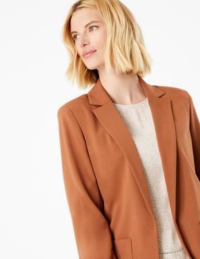 Kadın Kahverengi Relaxed Blazer Ceket
