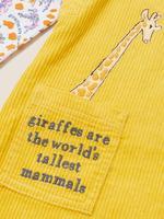 Kız Çocuk Sarı Roald Dahl™ & NHM™ Salopet ve Body Takımı