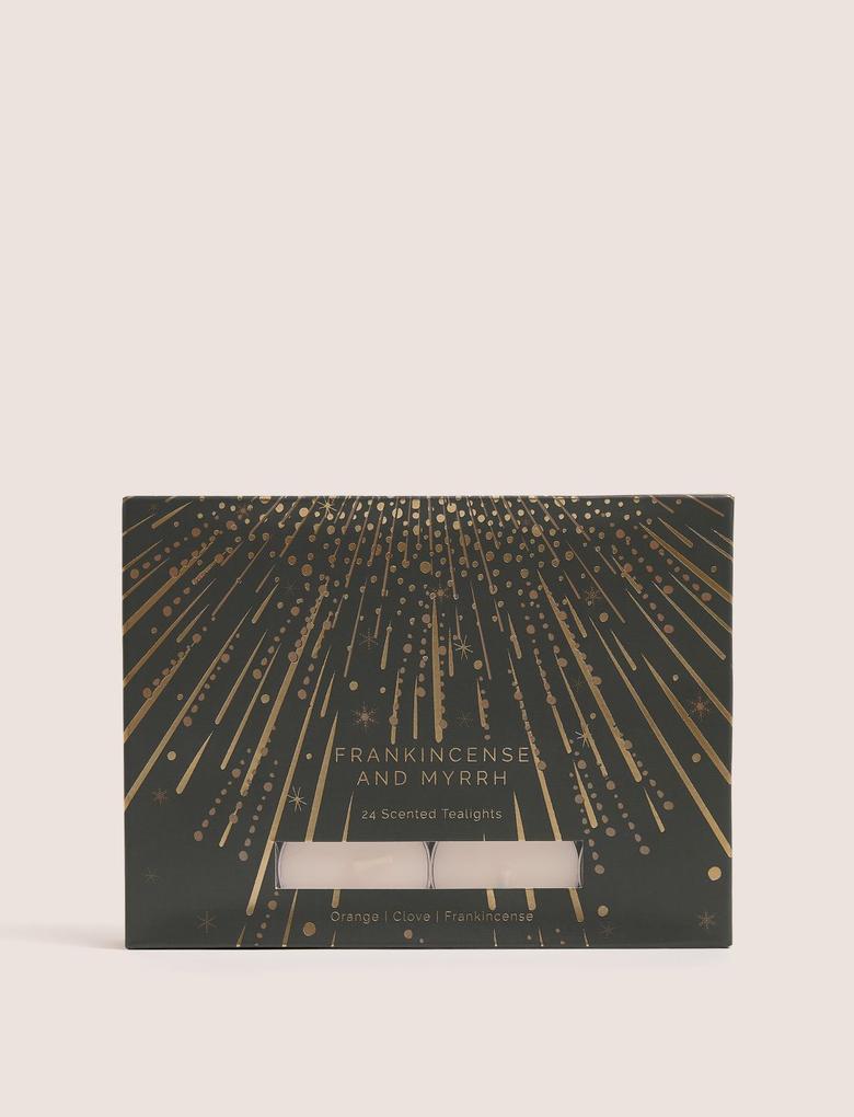 Ev Sarı 24'lü Frankincense & Myrrh Tealight Seti