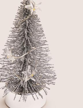 Gümüş Minik Çam Ağacı Dekoratif Süs