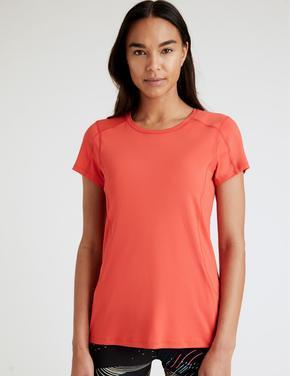 Kadın Kırmızı Performance Kısa Kollu T-Shirt