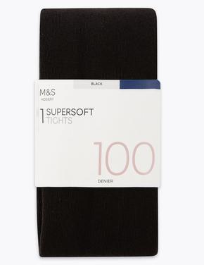 Kadın Siyah 100 Denye SuperSoft Opak Külotlu Çorap