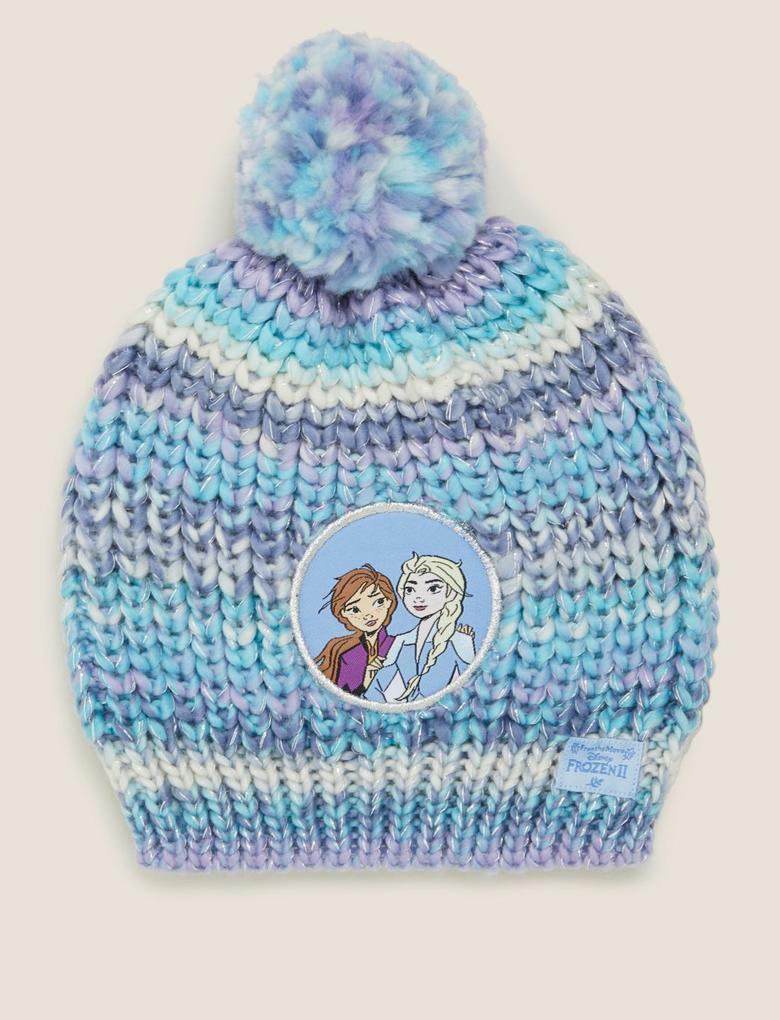 Çocuk Mavi Disney Frozen™ Ponponlu Bere