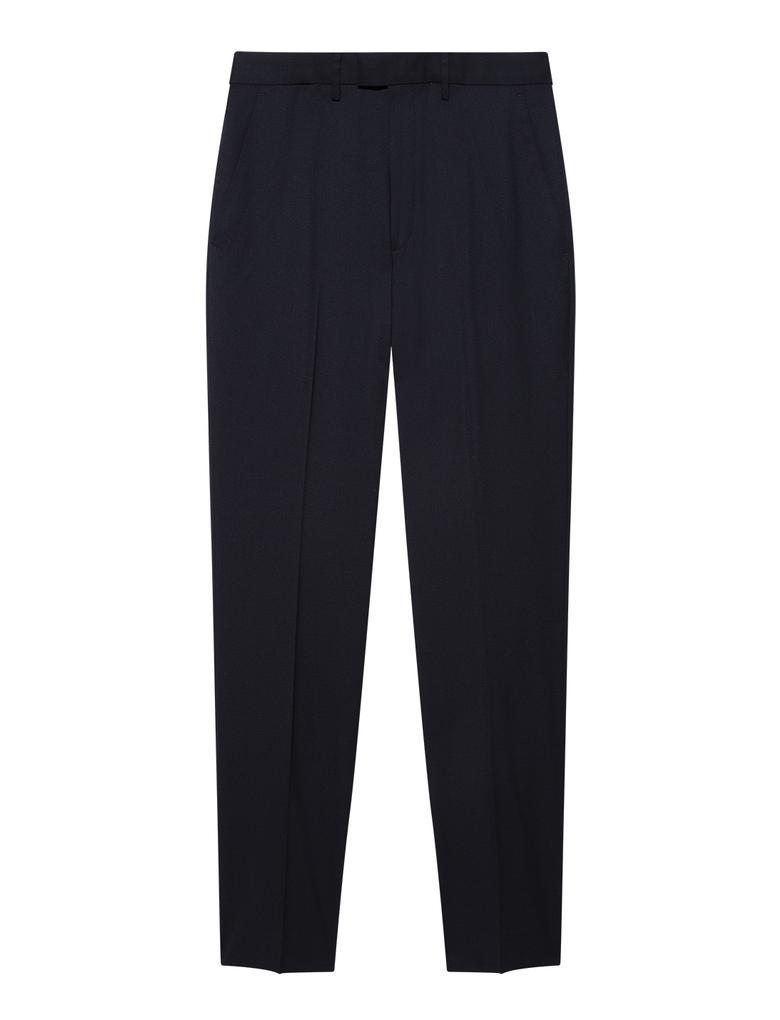 Lacivert Regular Fit Yün Karışımlı Pantolon