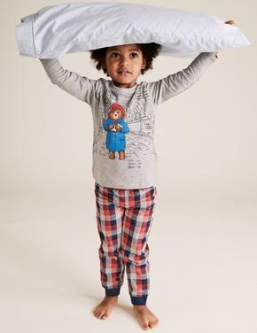 Çocuk Gri Paddington™ Pamuklu Pijama Takımı