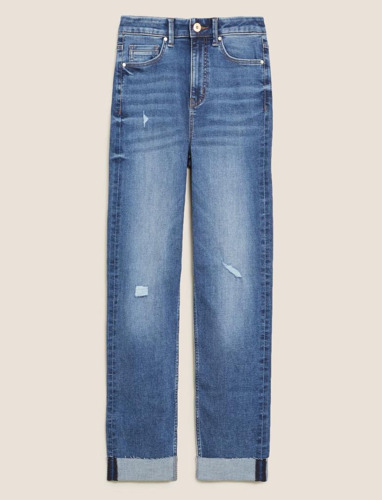 Kadın Mavi Harper SuperSoft Cigarette Jean Pantolon