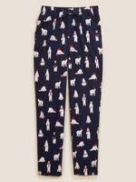 Erkek Lacivert Kutup Ayısı Desenli Pijama Altı