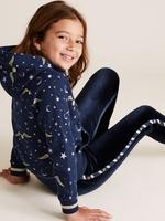 Kız Çocuk Lacivert Harry Potter™ Desenli Kapüşonlu Sweatshirt