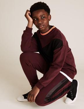 Erkek Çocuk Kırmızı Şerit Detaylı Jogger Eşofman Altı