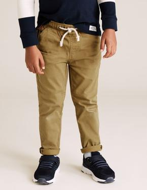 Erkek Çocuk Bej Pamuklu Kadife Pantolon