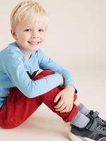 Erkek Çocuk Kırmızı Regular Fit Kadife Pantolon