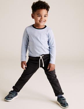 Erkek Çocuk Gri Pamuklu Kadife Pantolon