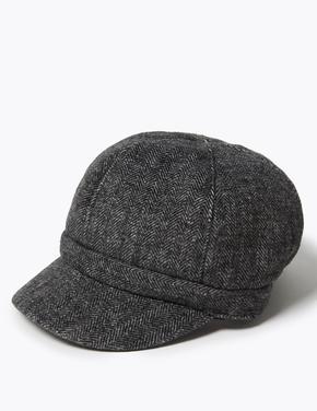 Kadın Gri Dokulu Şapka