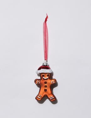 Multi Renk Cam Gingerbread Çam Ağacı Süsü