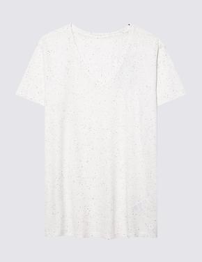 Kadın Renksiz Active V Yaka T-Shirt