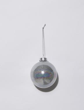 Gümüş Simli Top Çam Ağacı Süsü