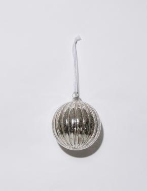 Metalik Gümüş Rengi Top Çam Ağacı Süsü