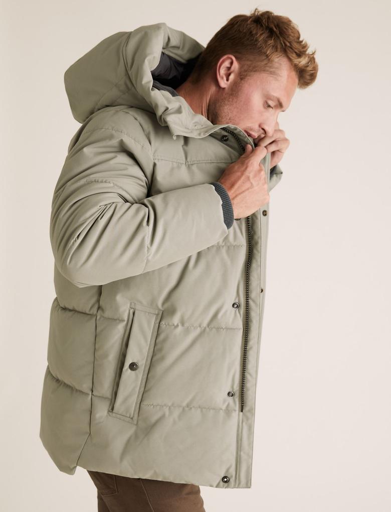 Renksiz Stormwear™ Kapüşonlu  Pufa Mont