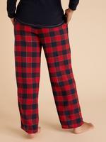Kadın Kırmızı Pamuklu Ekose Pijama Altı