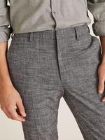 Gri Özel Dokulu Slim Fit Streç Pantolon